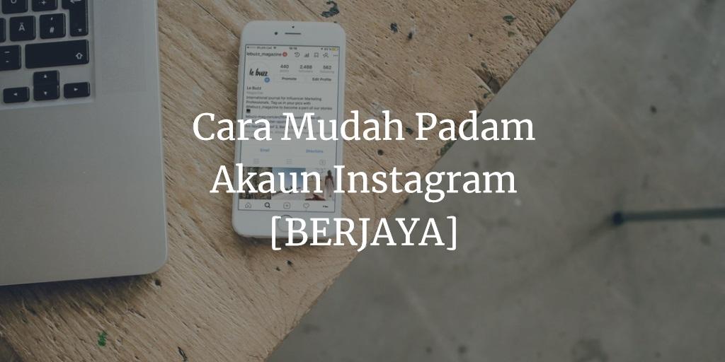 Cara Deactivate Instagram
