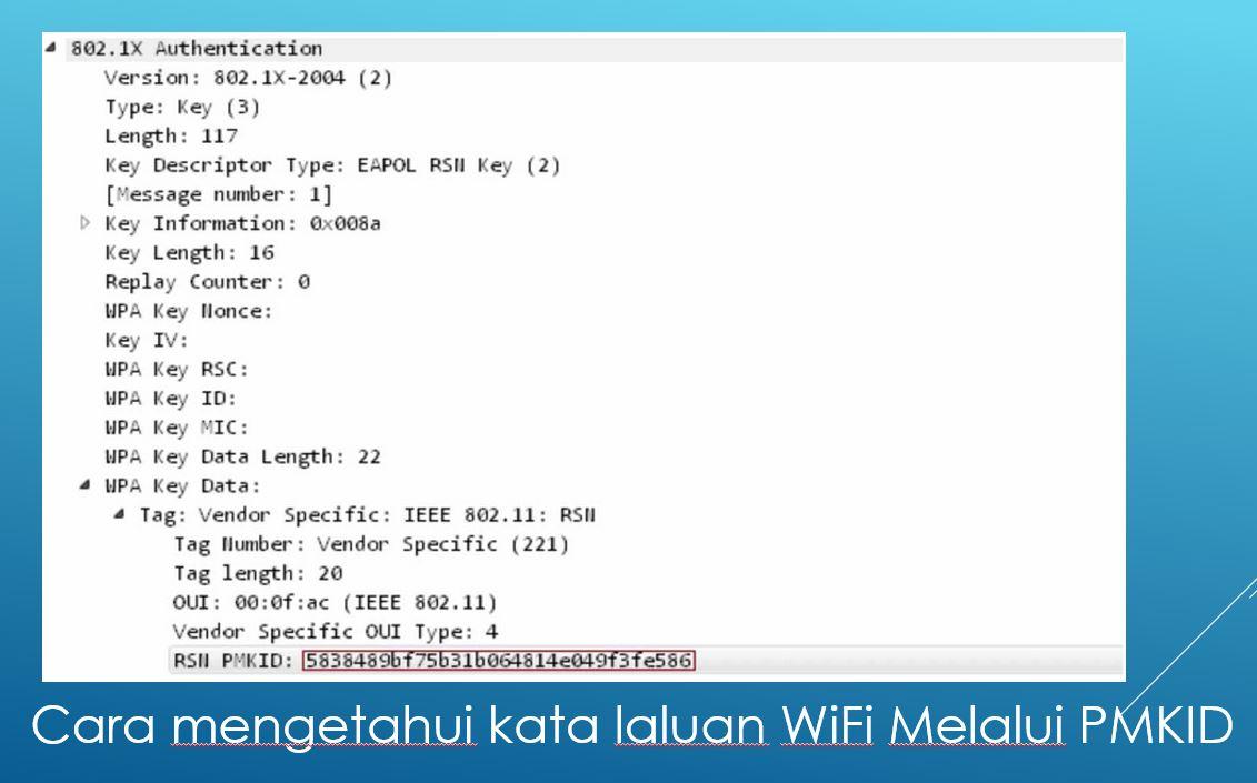 Cara mengetahui kata laluan WiFi Melalui PMKID