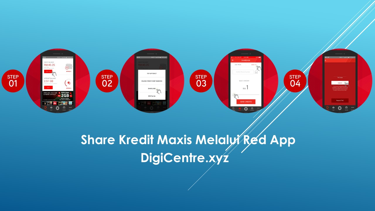 Share Kredit Maxis Melalui Red App