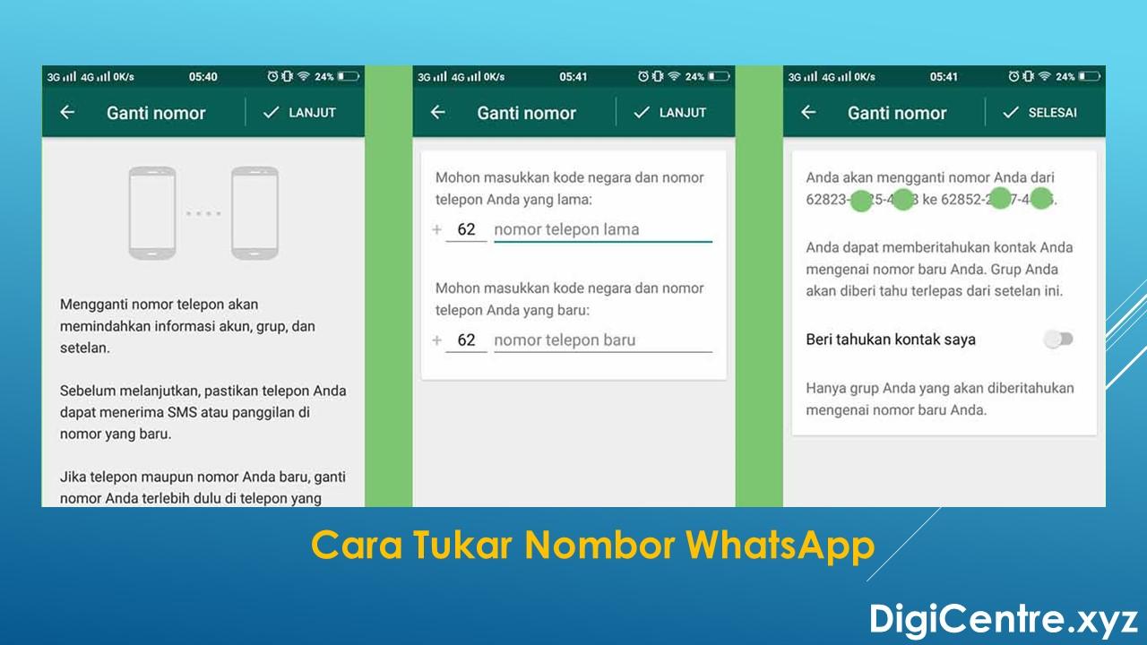 Cara Tukar Nombor WhatsApp