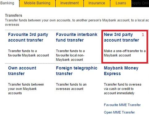 Cara Transfer Wang Maybank2u