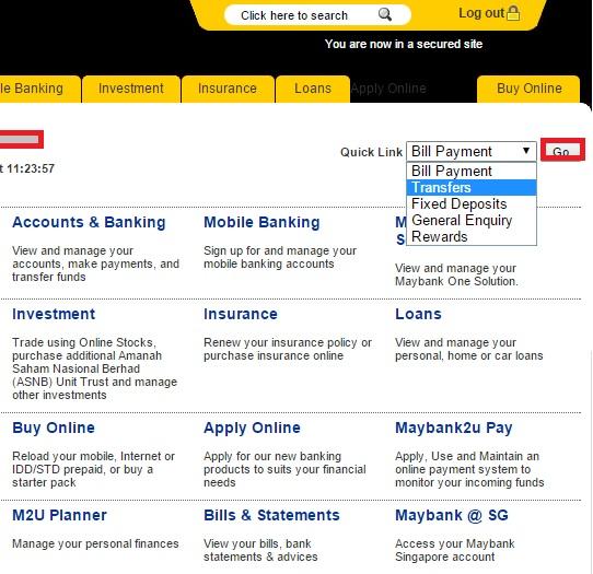 Transfer Duit Maybank Online