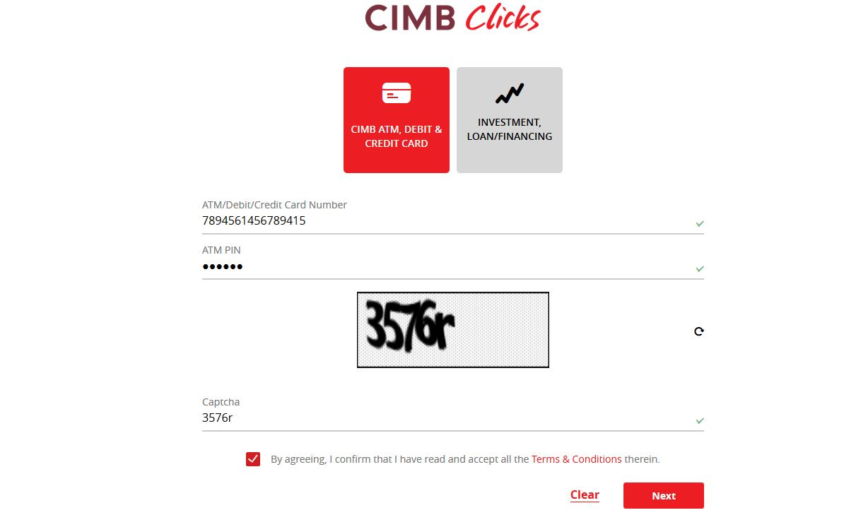Register CIMB Clicks Online