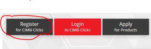 Register CIMBClicks Online