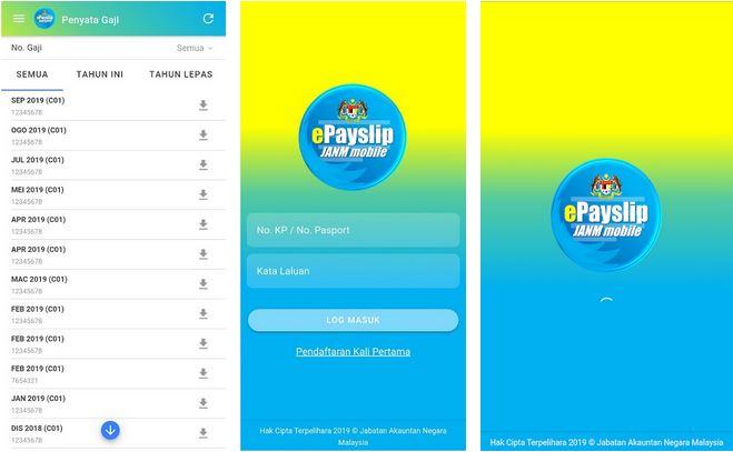 Aplikasi ePayslip JANM
