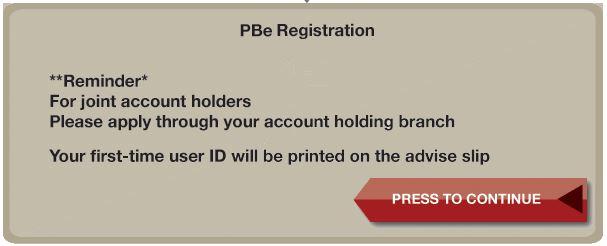 PBe Online Register